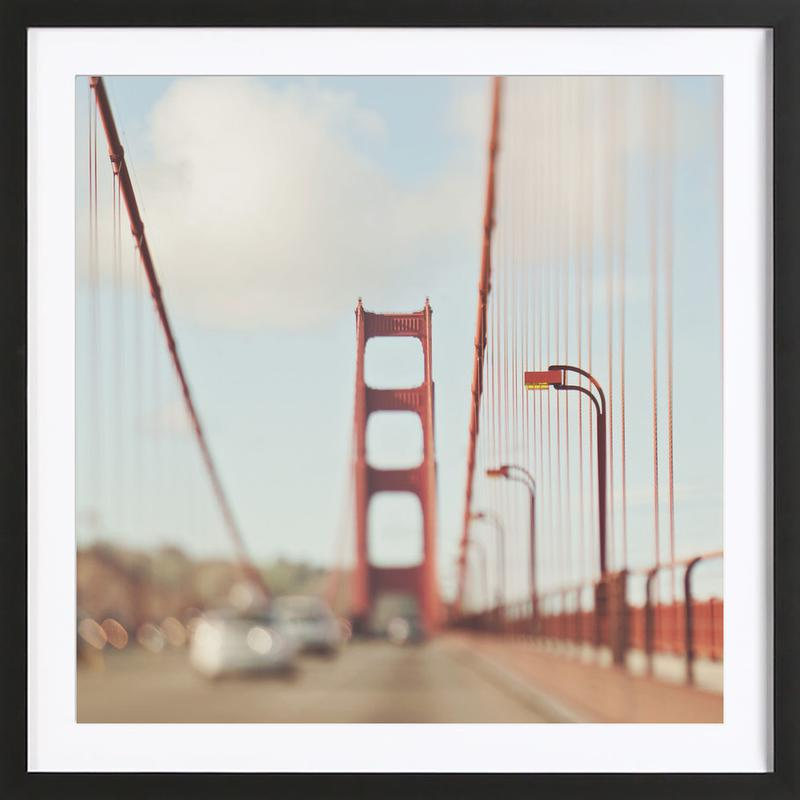 A Memory San Francisco as Poster in Wooden Frame   JUNIQE
