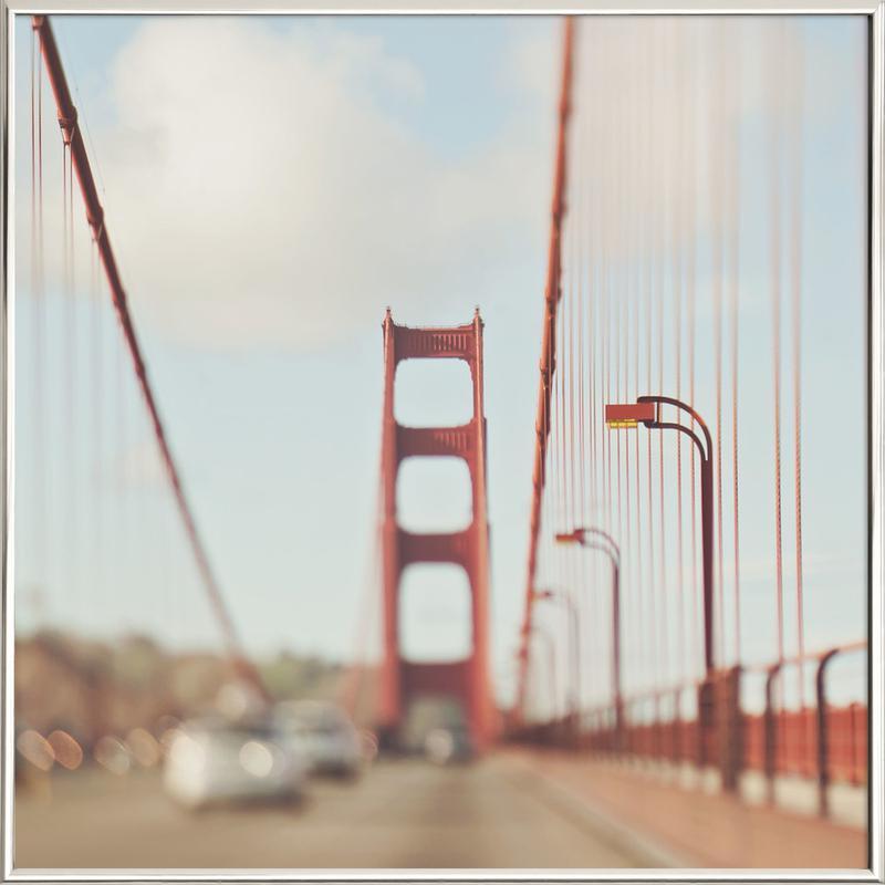 A Memory San Francisco as Poster in Aluminium Frame | JUNIQE