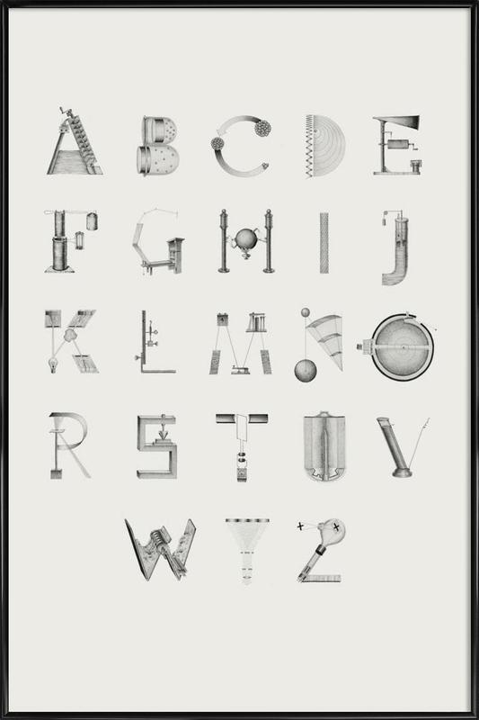 Science letters as Poster in Standard Frame by Khyati Trehan | JUNIQE