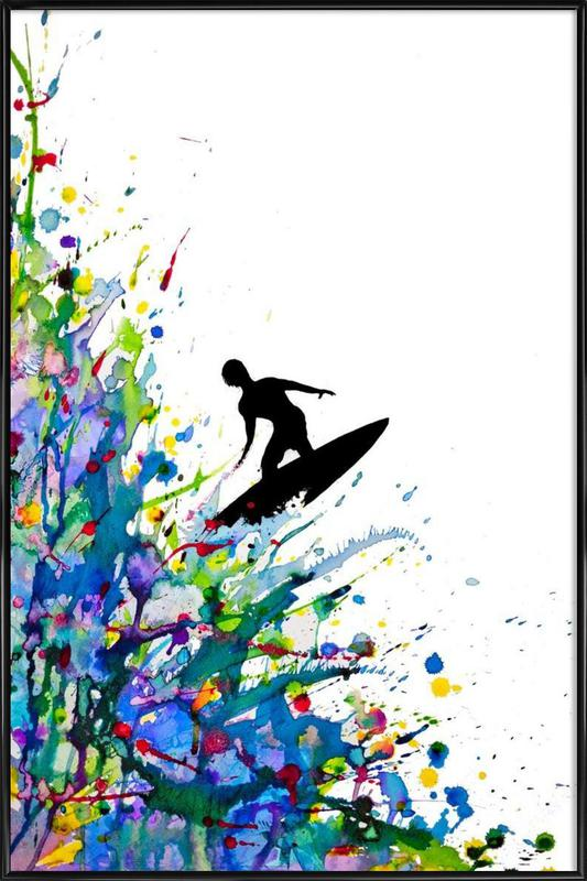A Pollock\'s Point Break as Poster in Standard Frame | JUNIQE
