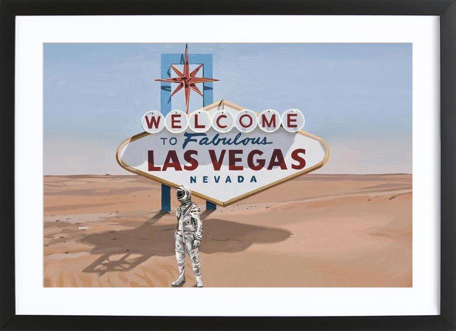 Leaving Las Vegas As Poster In Wooden Frame Juniqe