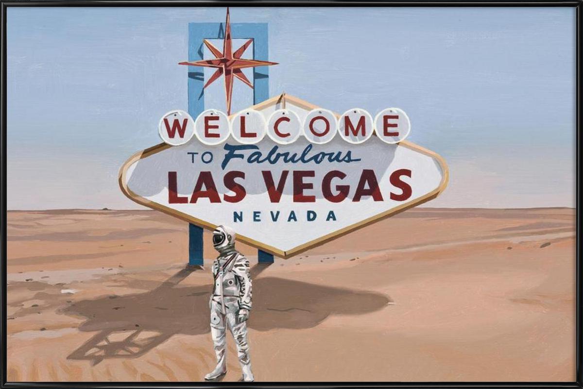 Leaving Las Vegas as Poster in Standard Frame   JUNIQE