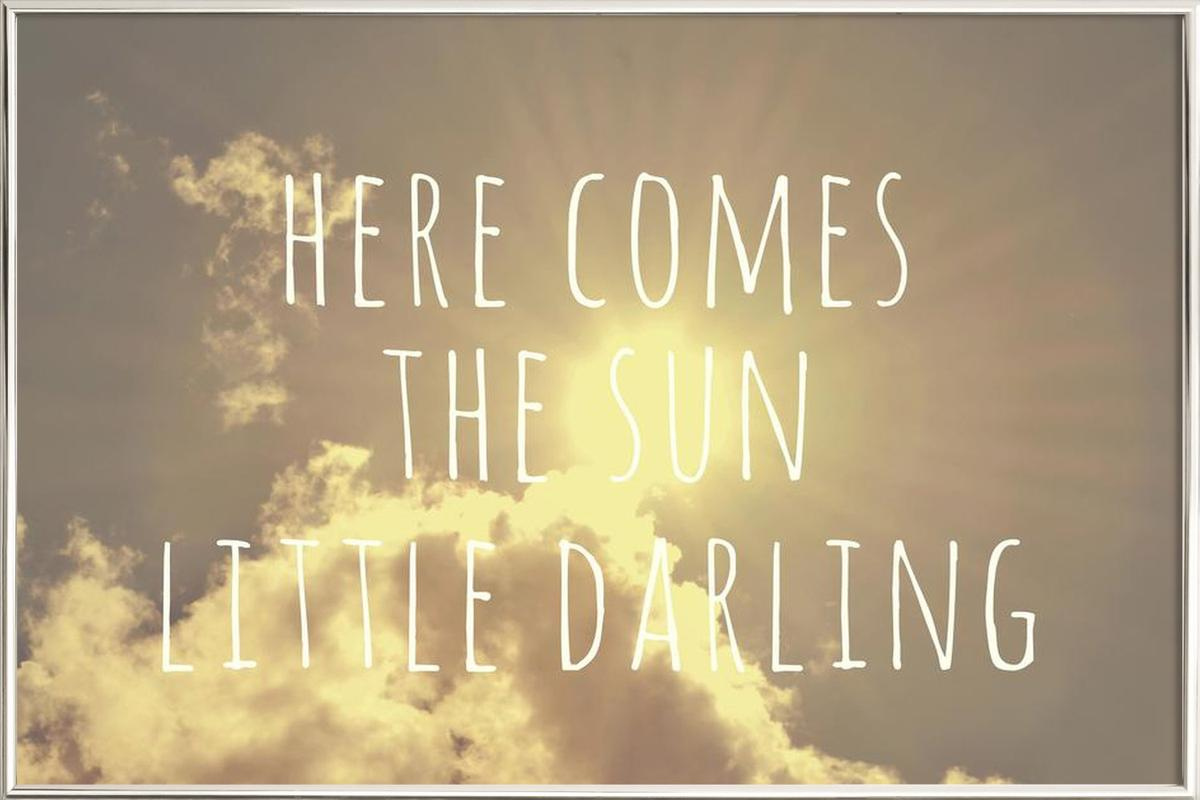Little Darling as Poster in Aluminium Frame by Vintage Skies | JUNIQE