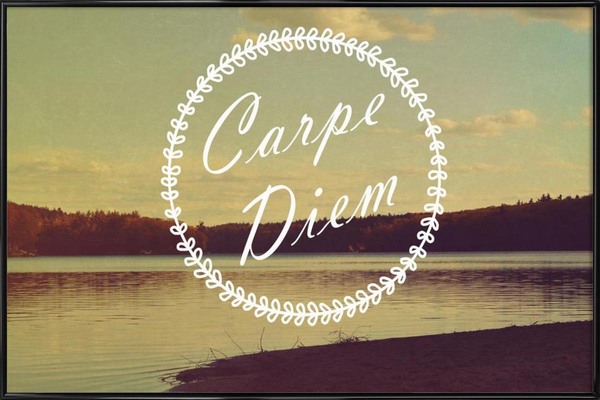 Carpe Diem as Poster in Standard Frame by Vintage Skies | JUNIQE
