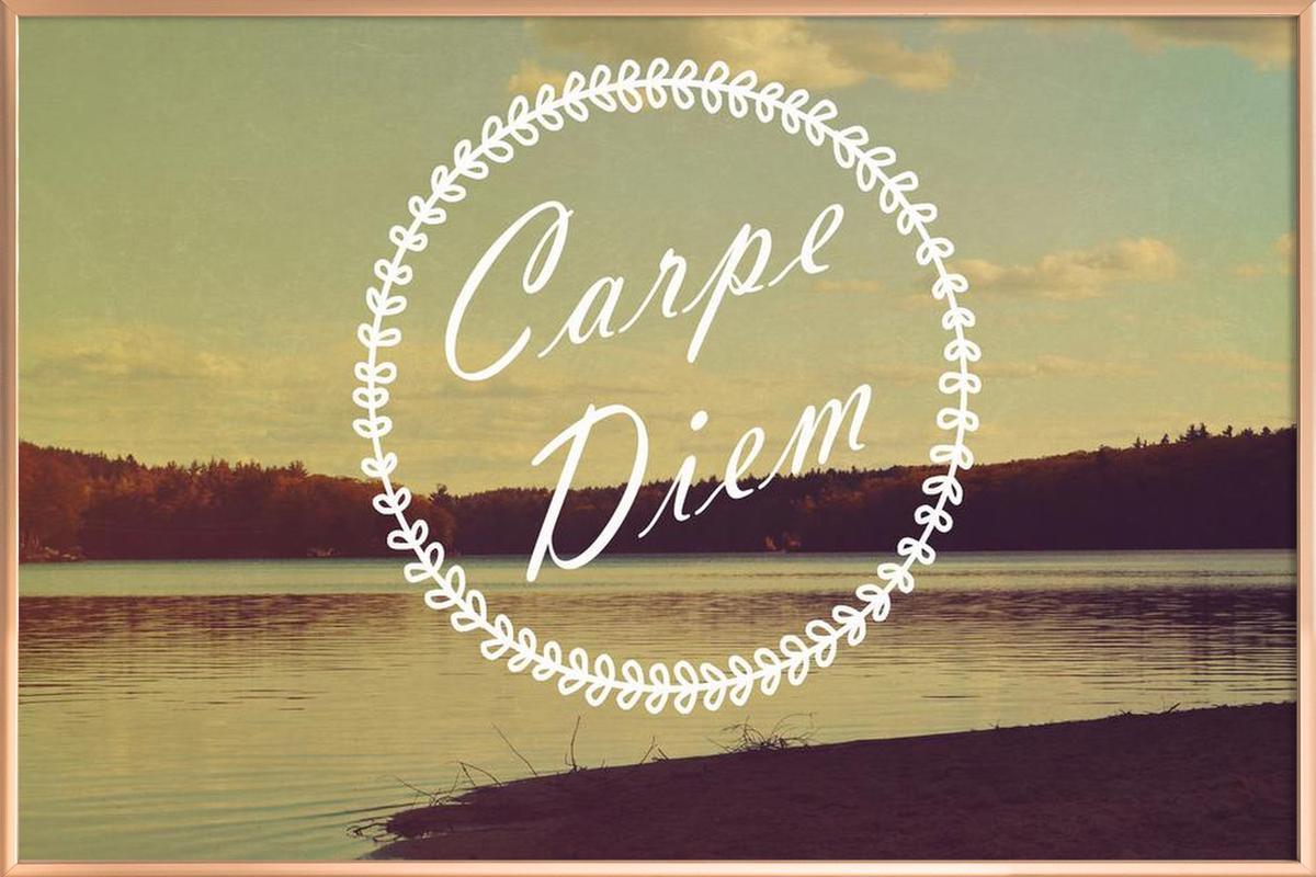 Carpe Diem as Poster in Aluminium Frame by Vintage Skies | JUNIQE