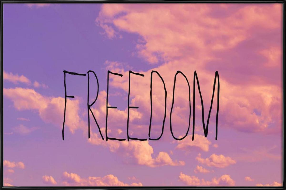 Freedom as Poster in Standard Frame by Vintage Skies | JUNIQE