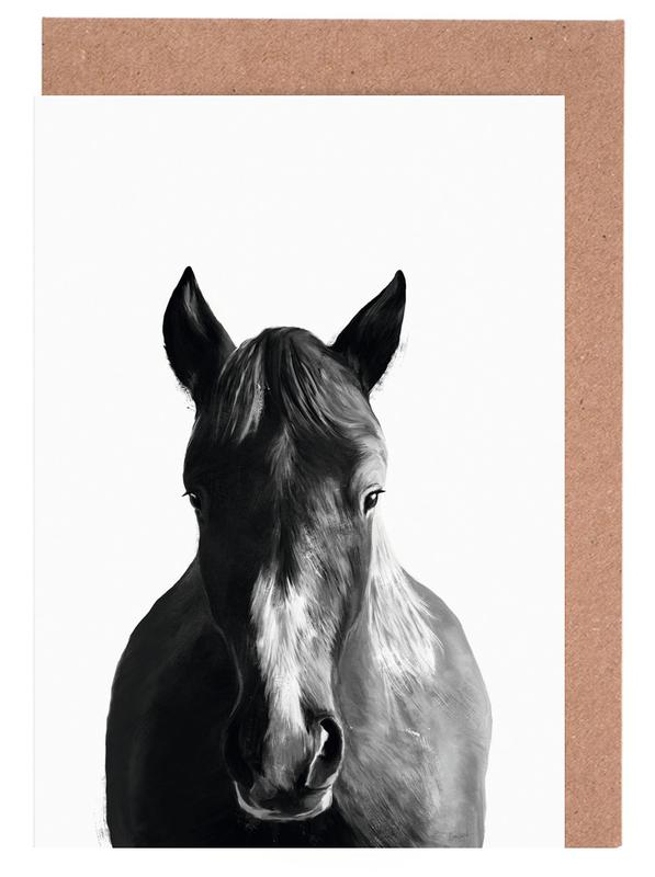 Horse as greeting card set by amy hamilton juniqe home stationery greeting cards m4hsunfo