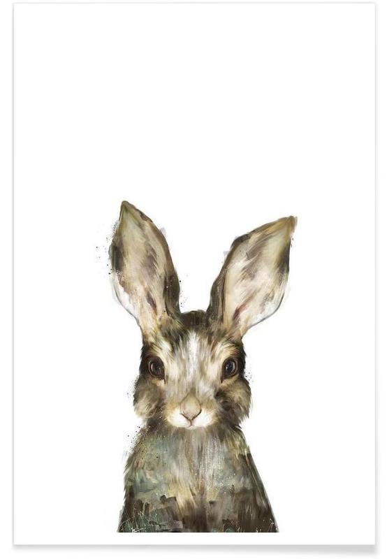 Little Rabbit As Premium Poster By Amy Hamilton Juniqe