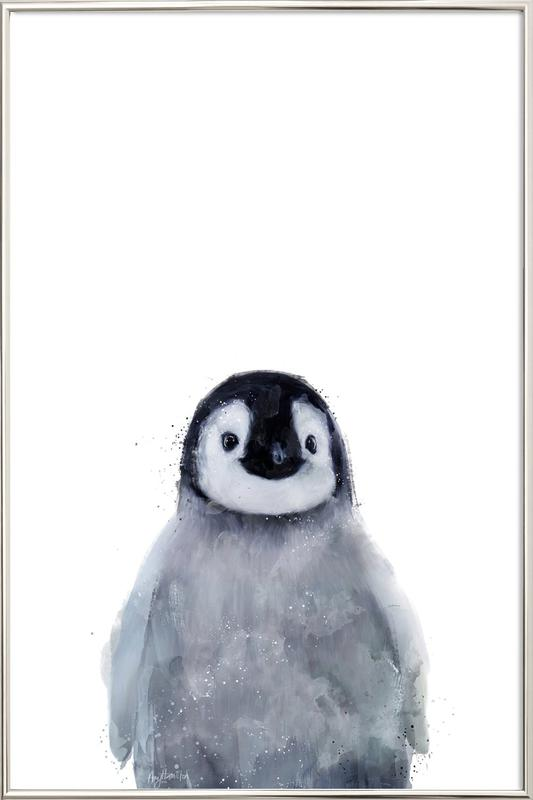 Little Penguin as Poster in Aluminium Frame by Amy Hamilton | JUNIQE