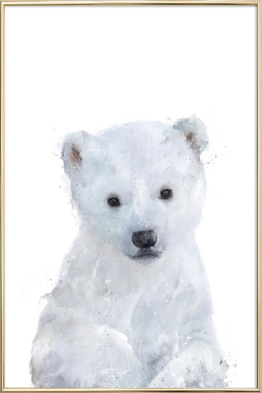 Little Polar Bear as Poster in Aluminium Frame | JUNIQE