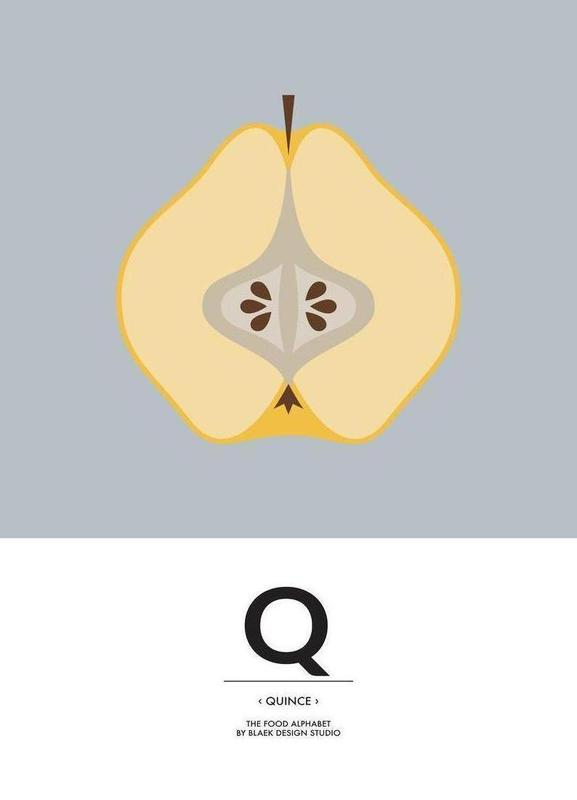 "The Food Alphabet"" - Q like Quince as Canvas Print 