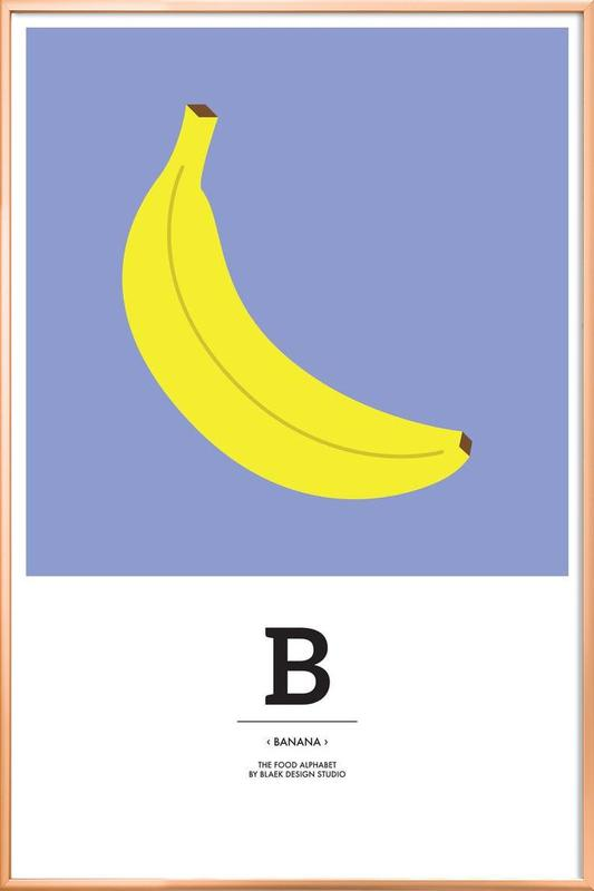 "The Food Alphabet"" - B like Banana as Poster in Aluminium Frame ..."