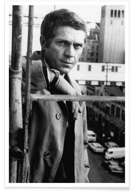 Steve Mcqueen In Bullitt 1968 As Poster Juniqe