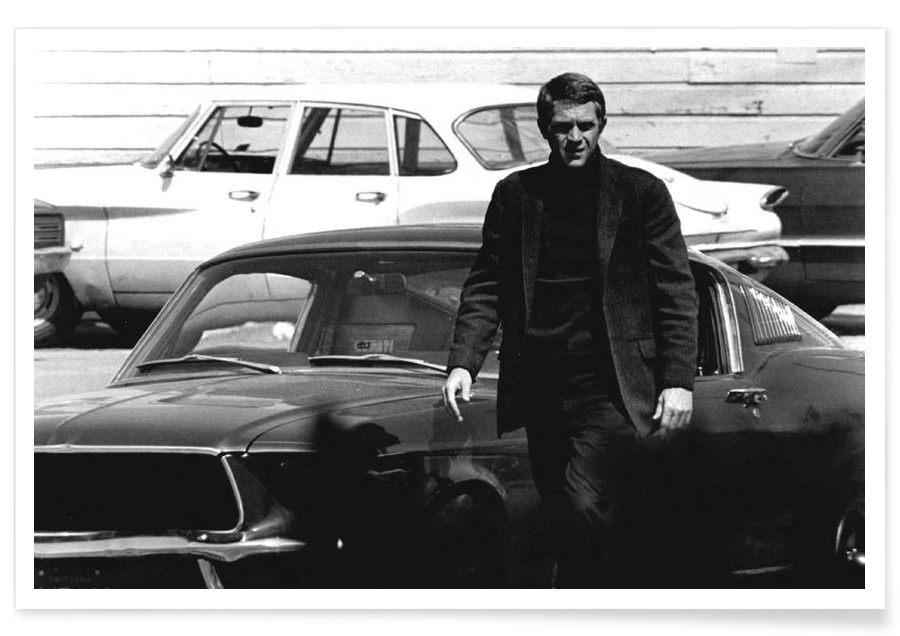 steve mcqueen in bullitt 1969 en affiche premium juniqe. Black Bedroom Furniture Sets. Home Design Ideas
