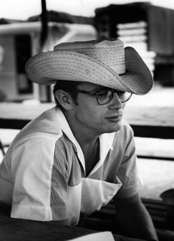 James Dean with Cowboy Hat as Canvas Print   JUNIQE