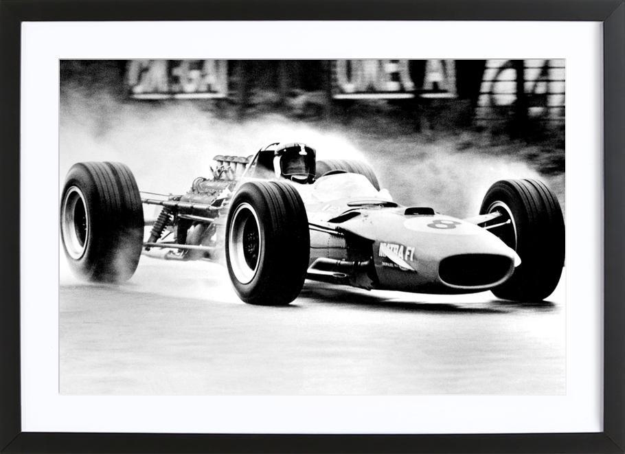 Formula 1 as Poster in Wooden Frame | JUNIQE