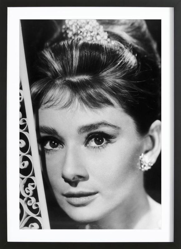 Audrey Hepburn 3 Als Poster Im Holzrahmen Juniqe