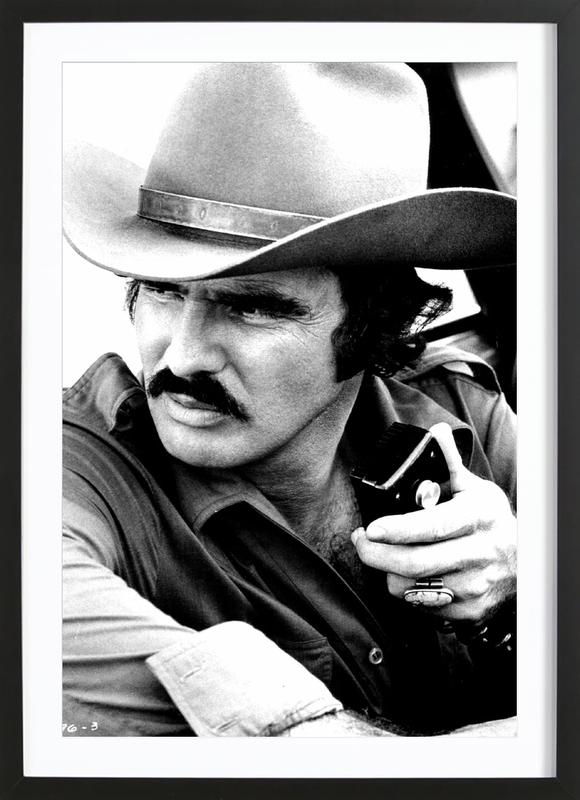 Burt Reynolds In Smokey And The Bandit As Poster In Wooden Frame