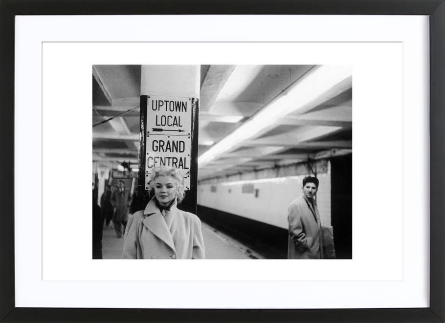 Marilyn Monroe at Grand Central Station, New York 1955 as Poster in ...
