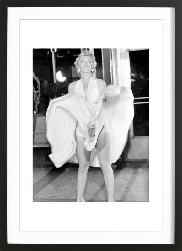 Marilyn Monroe, 1954 Seven Year Itch as Poster in Wooden Frame ...