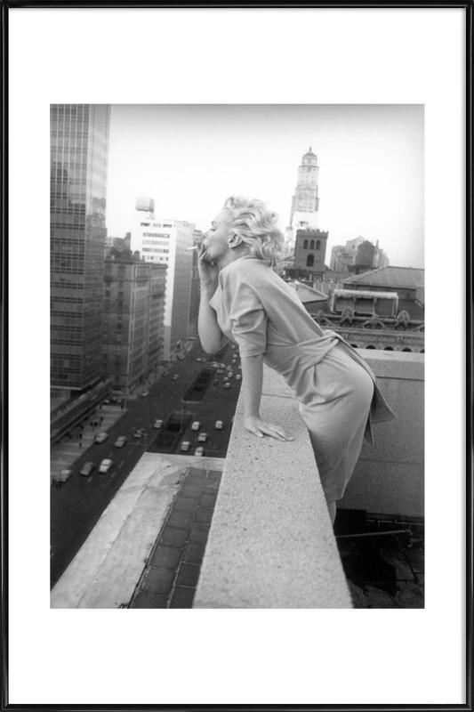 Marilyn Monroe in New York, 1955 as Poster in Standard Frame | JUNIQE UK