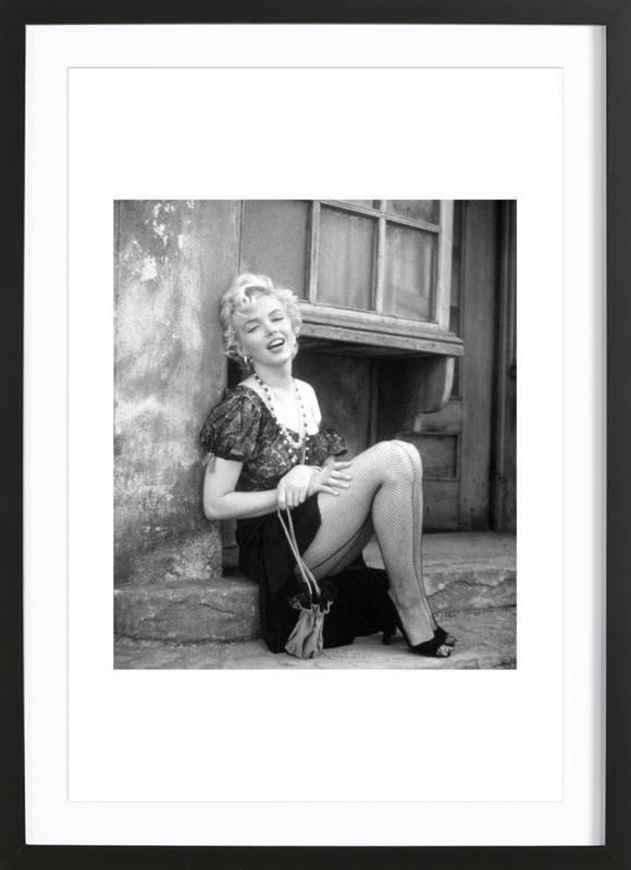 Marilyn Monroe in Bus Stop as Poster in Wooden Frame | JUNIQE