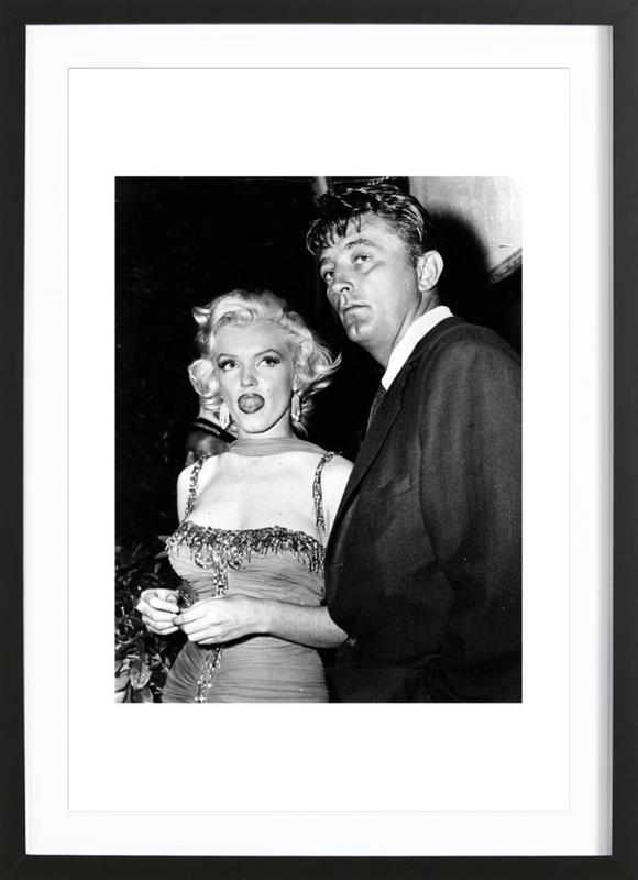 Marilyn Monroe and Robert Mitchum, 1953 as Poster in Wooden Frame ...