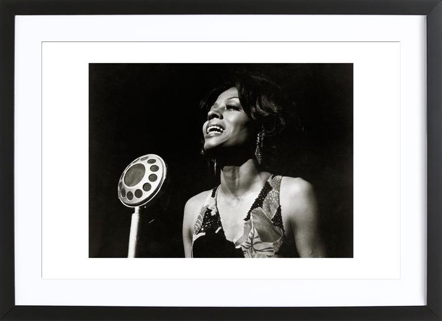 Diana Ross, Lady Sings the Blues, 1972 als Poster im Holzrahmen | JUNIQE