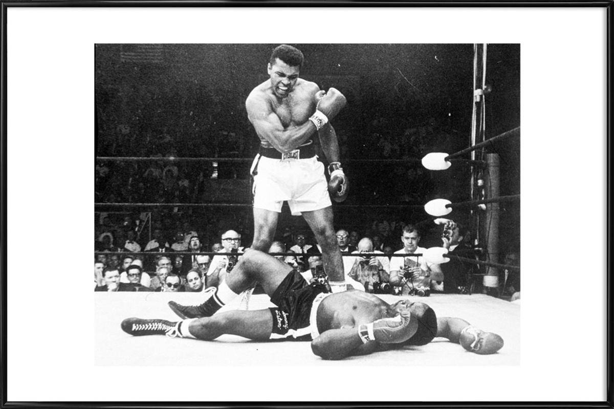 Muhammad Ali Rematch With Sonny Liston 1965 As Poster In