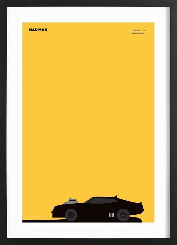 mad max als poster im holzrahmen von marcin plonka juniqe. Black Bedroom Furniture Sets. Home Design Ideas