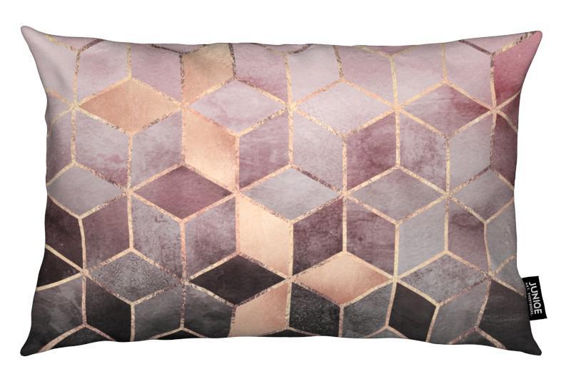 pink grey gradient cubes als kussen juniqe. Black Bedroom Furniture Sets. Home Design Ideas