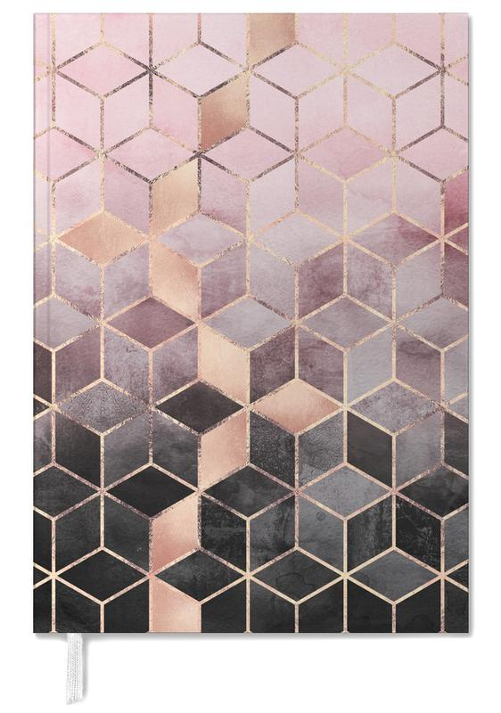 Pink Grey Gradient Cubes som Personal Planner  58c6334d7e46e