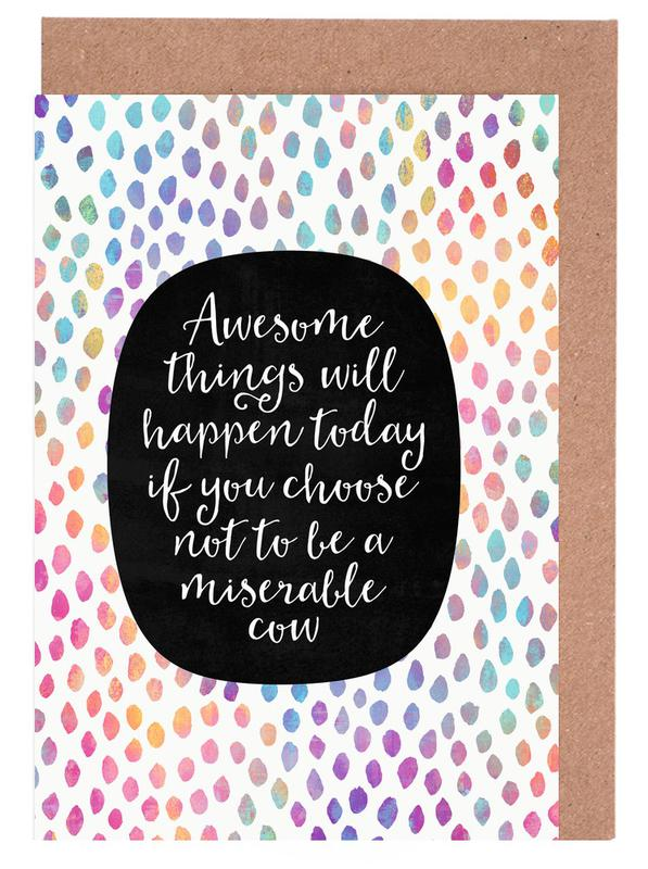 Awesome things as greeting card set by elisabeth fredriksson juniqe uk home stationery greeting cards m4hsunfo