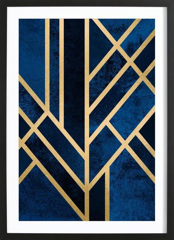 Art deco midnight als poster in houten lijst juniqe - Deco eigentijds ...