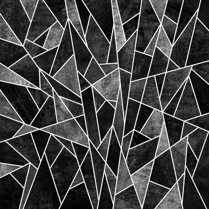 shattered black als alu dibond druck juniqe. Black Bedroom Furniture Sets. Home Design Ideas