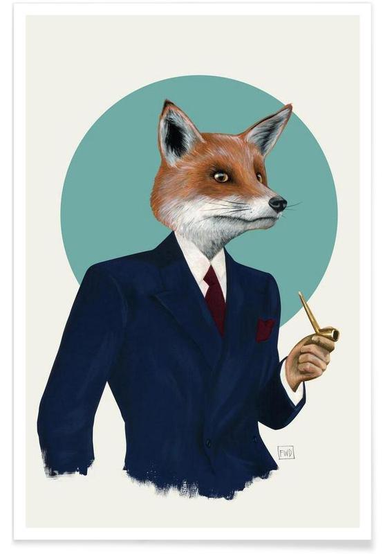 mr fox en affiche premium par famous when dead juniqe. Black Bedroom Furniture Sets. Home Design Ideas