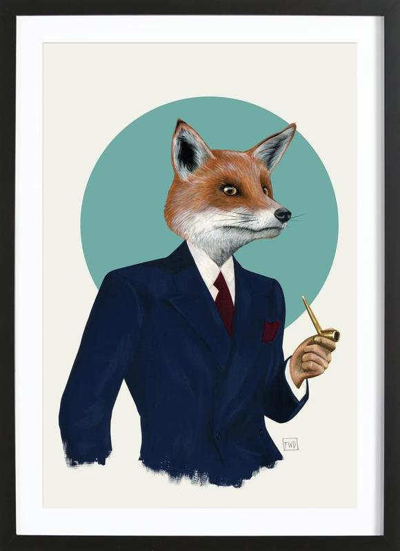 mr fox als poster im holzrahmen von famous when dead juniqe. Black Bedroom Furniture Sets. Home Design Ideas
