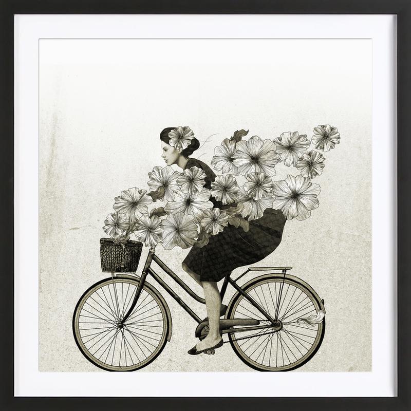 ride als poster im holzrahmen von laura graves juniqe. Black Bedroom Furniture Sets. Home Design Ideas