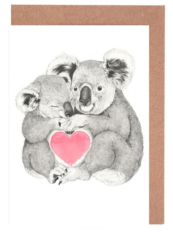 Koala as greeting card set by laura graves juniqe home stationery greeting cards m4hsunfo