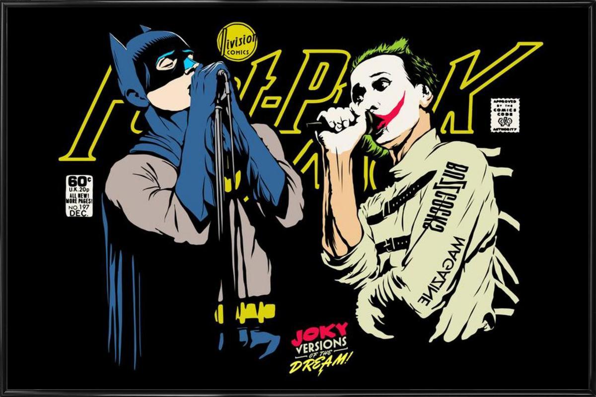 The Post Punk Face Off als Poster im Kunststoffrahmen | JUNIQE