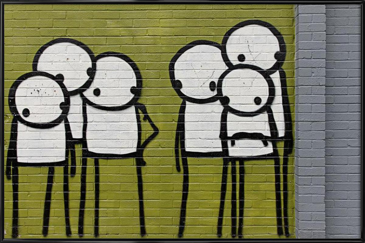 streetart grün 3 en affiche sous cadre standard par sadia | juniqe