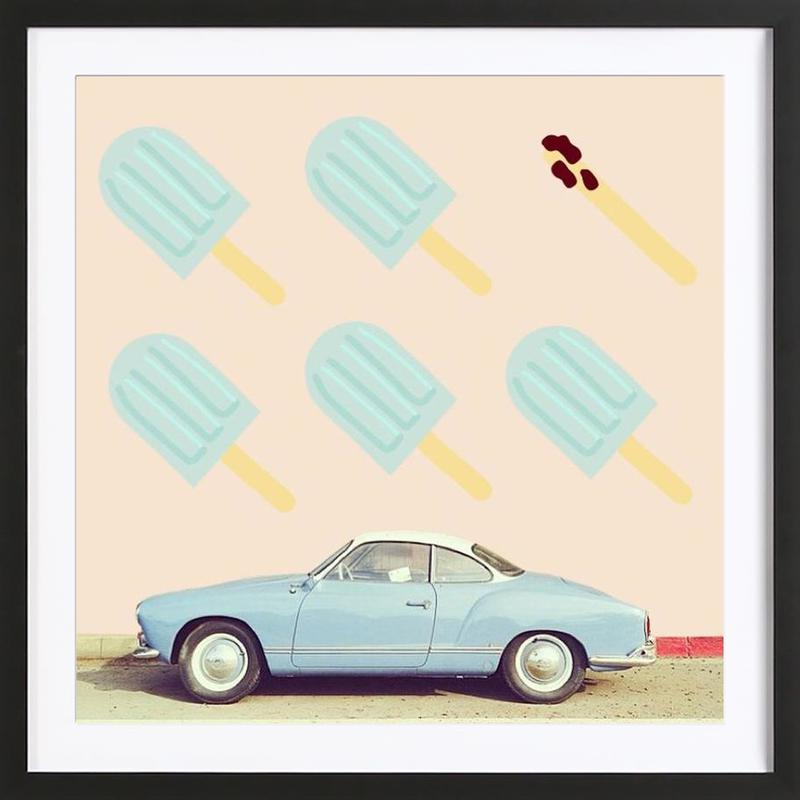 frome ice-cream to shit as Poster in Wooden Frame | JUNIQE
