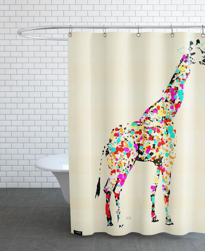 The Art Giraffe As Shower Curtain By Brian Buckley | JUNIQE