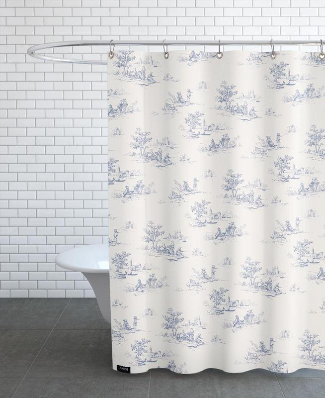 Rideaux Toile De Jouy animal jouy en rideau de douche par florent bodart | juniqe ch