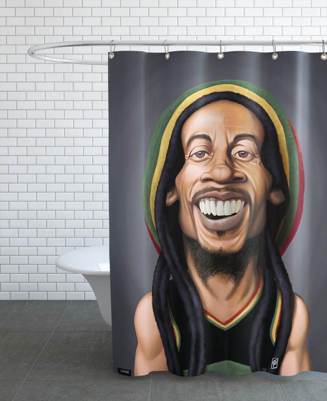 linge de lit bob marley Bob Marley en Rideau de douche par Rob Snow | Creative | JUNIQE linge de lit bob marley