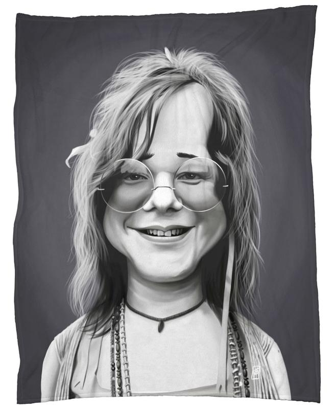 b3462b9fbf6 Janis Joplin as Fleece Blanket by Rob Snow