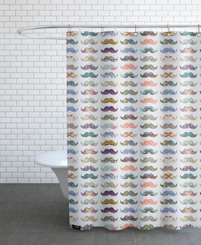 Mustache Mania as Shower Curtain by Bianca Green | JUNIQE