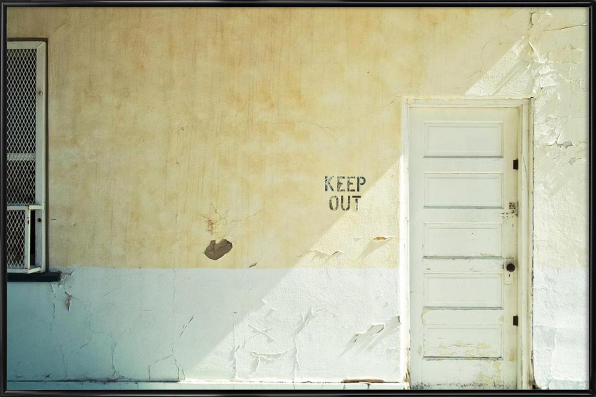 Keep out as Poster in Standard Frame by Cordula Schaefer | JUNIQE