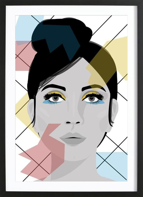 Colour on my face as Poster in Wooden Frame by Ctoft | JUNIQE