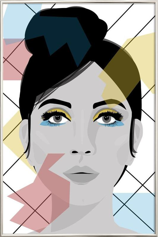 Colour on my face as Poster in Aluminium Frame by Ctoft | JUNIQE